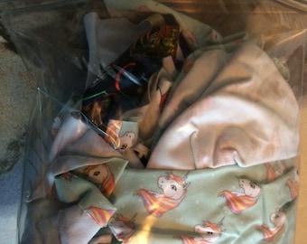 Random selection fabric scrap bag