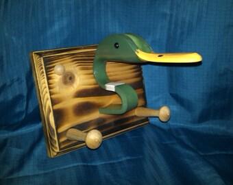 PVC Mounted Duck Head Key / Leash Holder