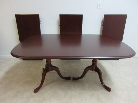 Pennsylvania House Cherry 3 Board Pedestal Dining Room Banquet Conference Table