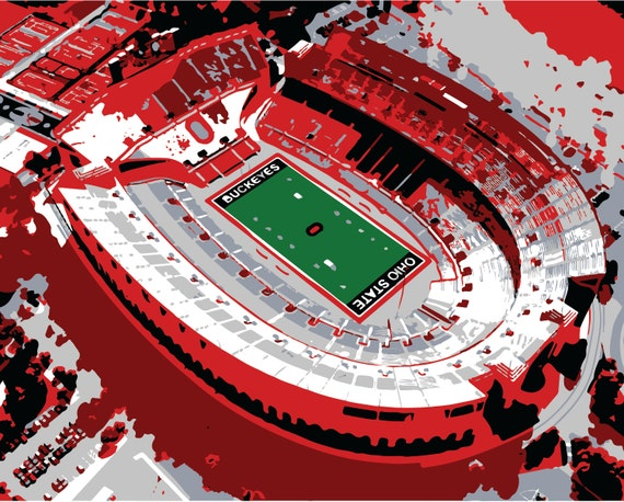 Canvas Print Ohio Stadium Print Shoe State Horseshoe