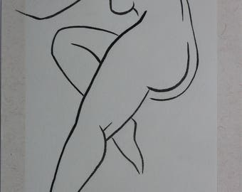 Female nude drawing 110