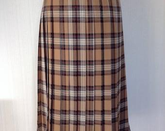 """Cotswold Wool Skirt - Tartan - Medium - 32"""" Waist - Vintage - Free Postage"""