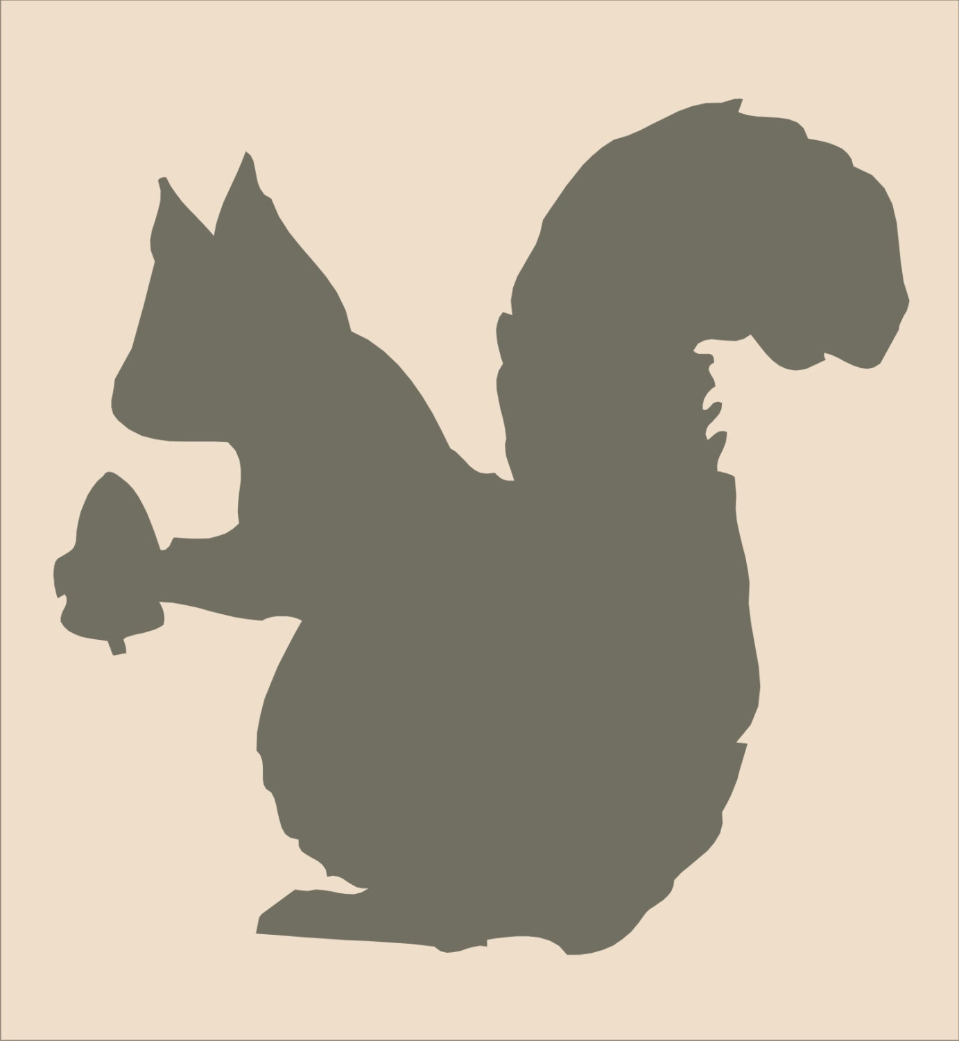SQUIRREL Reusable Stencil 6 sizes Available Create Cabin