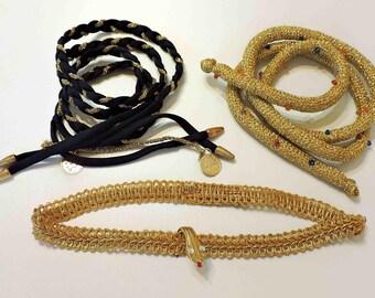 Vintage Belly Dancing Head Bands and Belt