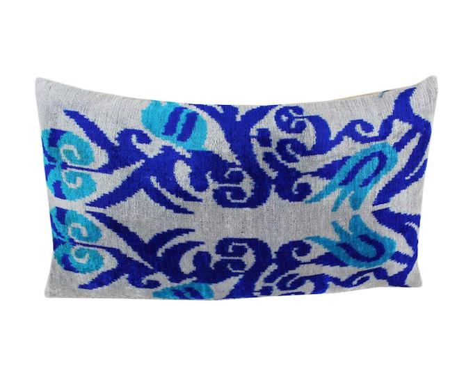 Silk Velvet Ikat Pillow Cover Lp503, Bohemian pillow, Velvet Ikat Pillow, Velvet Pillow, Velvet Pillow Cover, Ikat Pillows, Throw Pillows