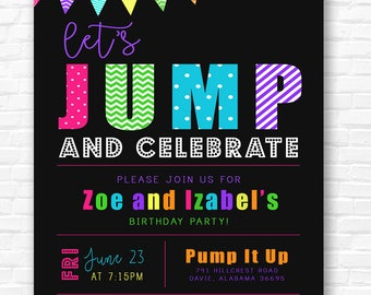 Let's Jump and Celebrate Invitation