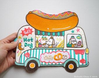 Hot Dog Truck XXL Back Patch