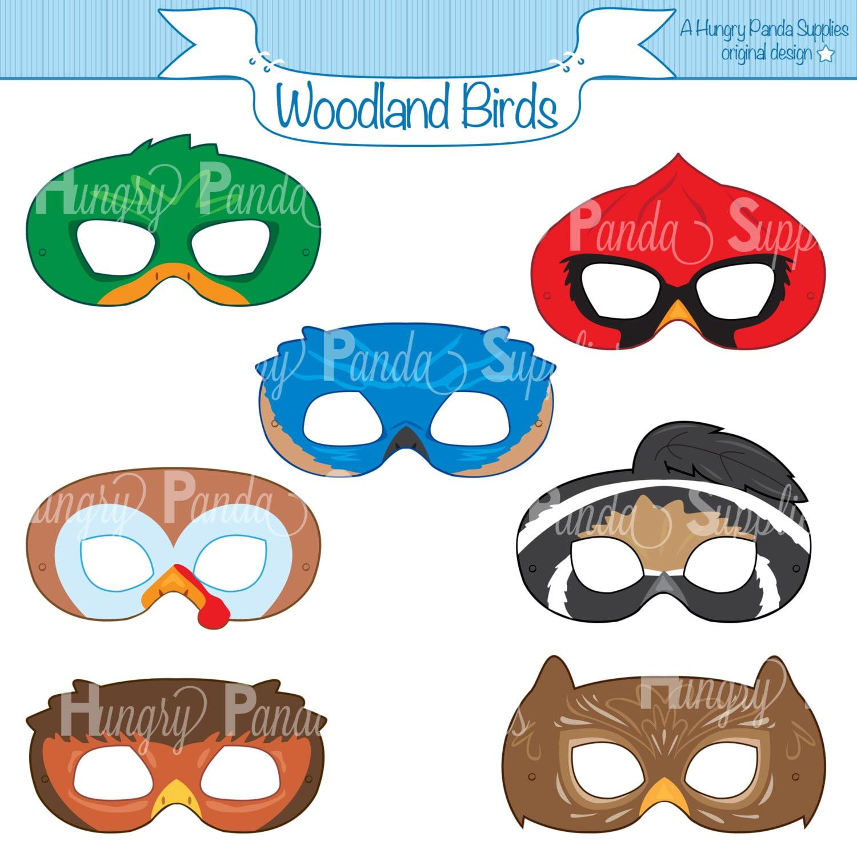 Woodland Forest Birds Printable Masks woodland turkey mask