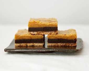 Chocolate Butterscotch Bars, Three Layered Bar Cookies