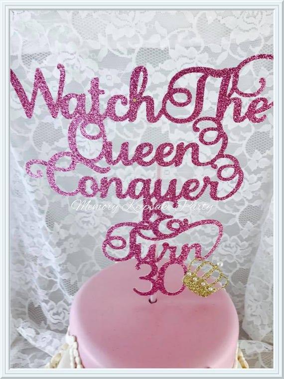 Queen Cake Topper Queen Party Decorations Queen Party Decor