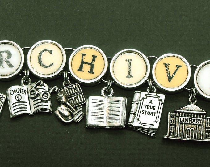 Archivist Librarian Library Document Book Charm Bracelet