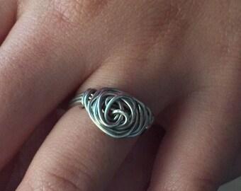 junior size rosette ring
