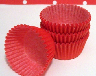 Mini Red Baking Cups- Candy Liners- Choose Set of 50 or 100