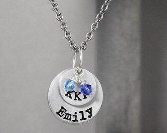 Kappa Kappa Gamma Necklace, Sorority Necklace, Name Necklace, Kappa Kappa Gamma Jewelry,  Sorority Sister Gift, Sorority Jewelry