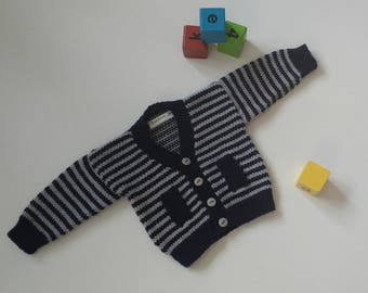 Knitting Pattern for Bertie Baby Cardigan