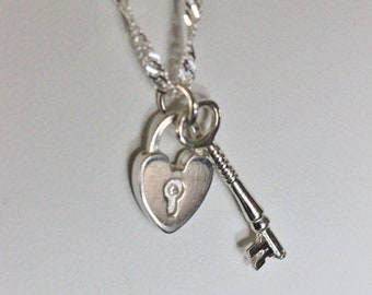 """Sterling Silver """"Key to my Heart"""" Necklace"""