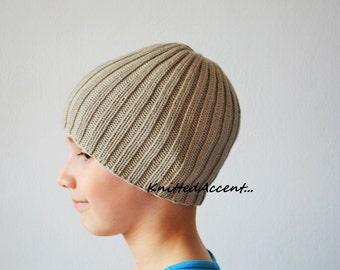 Knit Boy Beanie Hat, Soft Wool Hat, Knit Beanie Hat, Knit Hat For Boy, Wool Beanie Hat, Handmade Beanie Hat, Beanie Hat, Hat For Boy