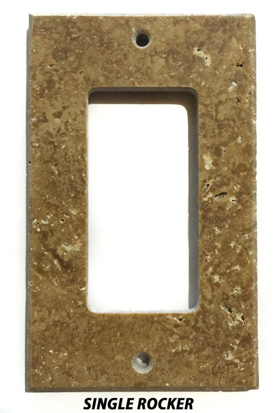 Real Natural Stones Light Walnut Travertine Switch Plate Cover
