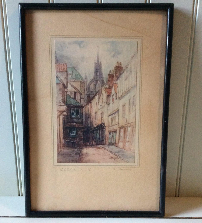 Castle Garth Newcastle On Tyne Fine Watercolor Art Print By C