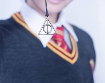 Harry Potter and Fantastic Beast inspired Hollows necklace - Bronze / Silver