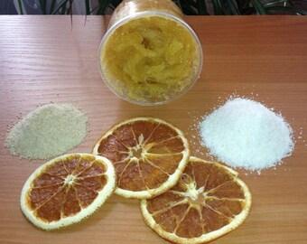 Organic Citrus Body Scrub Japanese rice body scrub Amaranth scrub Mild exfoliating body scrub Natural body peeling Citrus scrub Body care