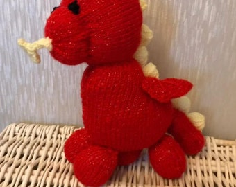 Knitted Red Dragon