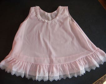 VINTAGE Child GIRLS Dress/Slip PINK Size 6-18 Months Lady Lovely