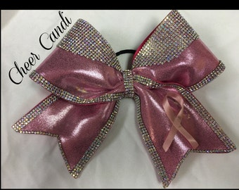 "Pink & Rhinestone Special Edition Breast Cancer Awareness 3"" Bow"