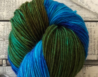 Variegated Hand Dyed Yarn-MOONSTONE-Fuzzy Toad-100 gr-55 sw Merino/20 Kid Mohair/25 Nylon-438 yards-Toad Hollow Yarns-Indie Dyed Yarns