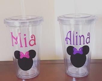 Minnie or Mickey Tumblers
