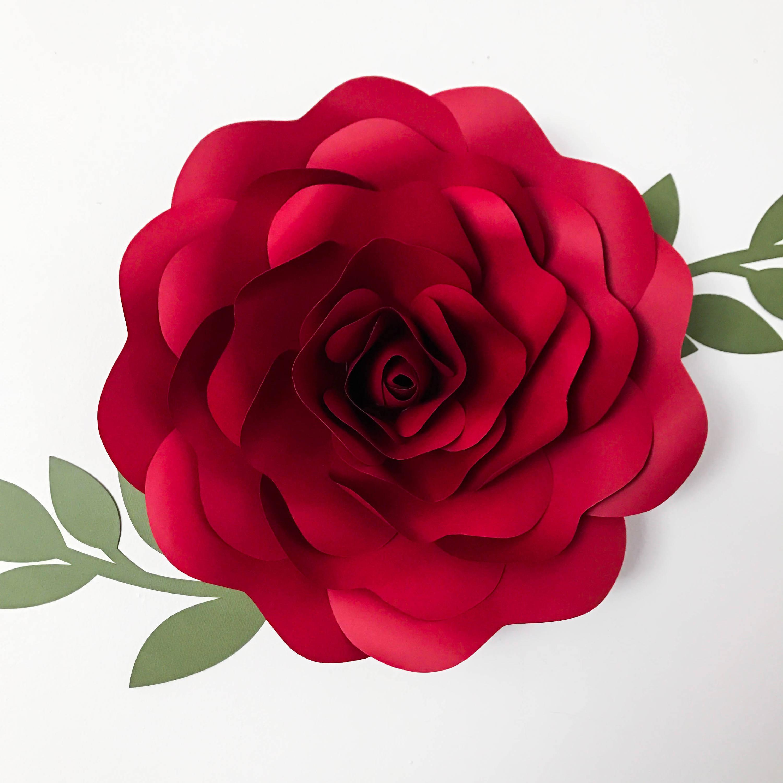 Svg petal 39 rose paper flower template digital version zoom mightylinksfo
