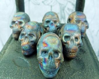 Peruvian Raku skull