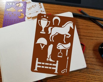 Horses themed Stencils for bullet journal bujo planner