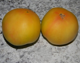 Non GMO Garden Peach Tomato Seeds QTY. 25 Heirloom Open Pollinated