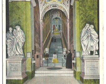 Vintage Postcard of Rome's Holy Staircase - The Scala Santa