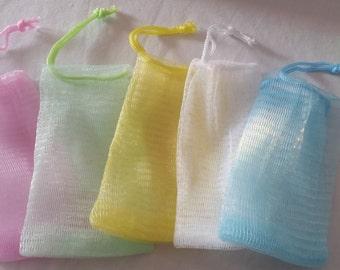 Mesh Soap Sack / Soap Saver / Wash mitt /soap scrubber/ exfoliating sack
