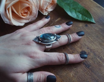 Sterling Silver Midi Rings  - Hippie Rings - Midi Rings Set - Stacking Rings -