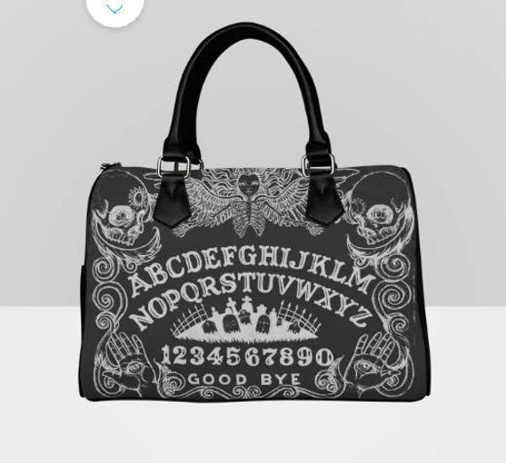 Ouija Black Barrel Style Hand Bag