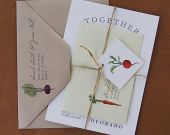 Farm to Table Wedding Invitation