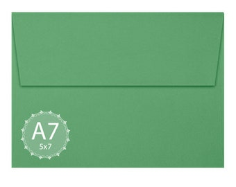A7 Holiday Green Envelopes (5 1/4 x 7 1/4) - Announcement Envelope
