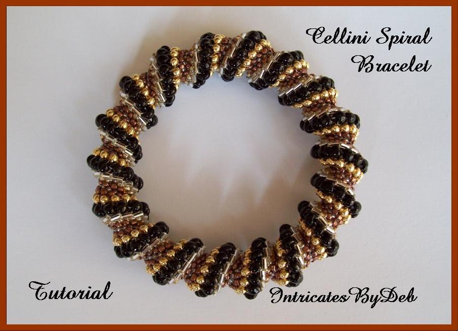Tutorial Beaded Cellini Spiral Seed Bead Bracelet - Jewelry ...