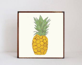 pineapple, tropical nursery art boho nursery decor gender neutral baby, wall decor, boho geometric prints, nursery art, redtilestudio