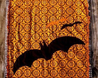 Halloween Bats Mini Quilt