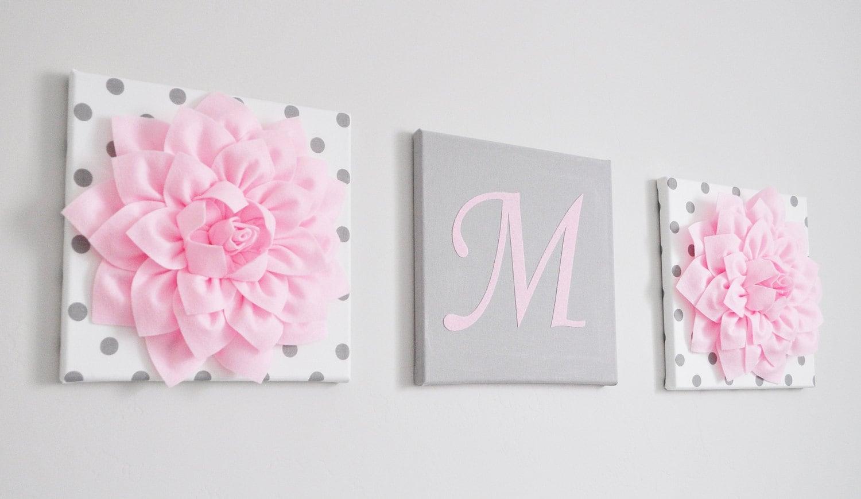 nursery initial decor light pink and grey nursery letters. Black Bedroom Furniture Sets. Home Design Ideas