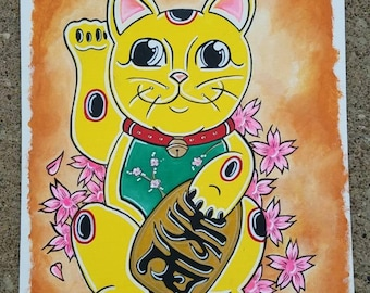 Lucky Cat Painting