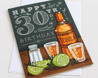 30th Birthday Card for Men - Happy 30th Birthday - Birthday Card for Boyfriend - Card for Dad - Card for Husband - 30th Card for Men