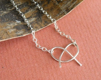 Love Me Knot Sterling Necklace- Free Shipping