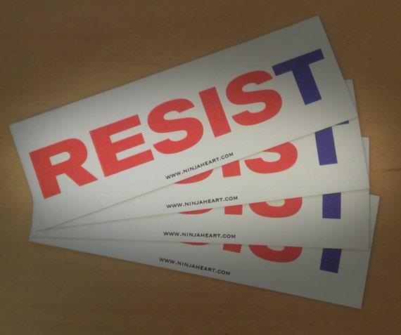 Resist magnetic bumper sticker