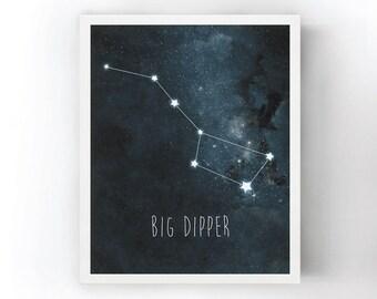 Big Dipper Constellation Art Print