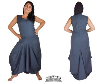 Balloon Dress Cotton Grey